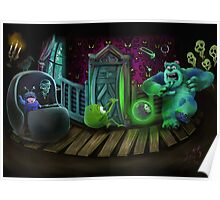 Haunted Monsters Inc Poster