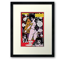 "Space Chick & Nympho: Vampire Warrior Party Girl Comix #1- ""The Parchment May be Broken"" Framed Print"