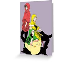 bad touch trio Greeting Card