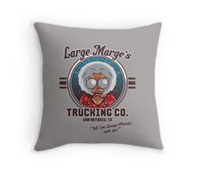 Large Marge's Trucking Co. Throw Pillow