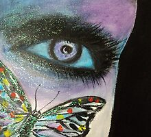 Purple Butterfly Eye by LindaLin3