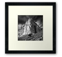 Lonely tree and White rock Framed Print