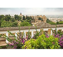 View from the Generalife - Granada - Spain Photographic Print