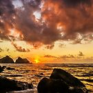 Sun , sea and sunset by JEZ22