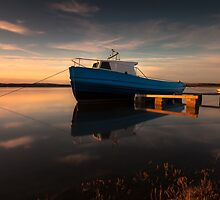 Loughor estuary boats Wales by leightoncollins