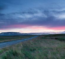 Sunset near Thingvellir by kernuak