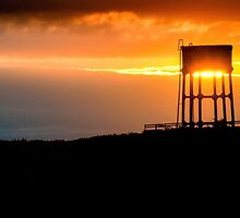 Water tower in Pennard, Wales by leightoncollins