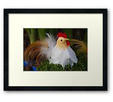 Easter hen Framed Print