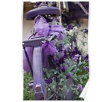 bicycle with lavender Poster