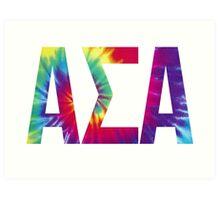 alpha sigma alpha tie dye Art Print