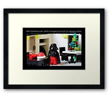 Santa's Normal Clothes Framed Print
