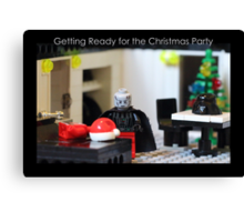 Getting Ready for the Christmas Party Canvas Print