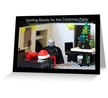 Getting Ready for the Christmas Party Greeting Card