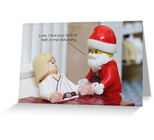 Lack of Faith Greeting Card