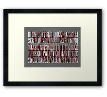 Arya's Prayer Framed Print