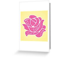 Kiss Kiss Fall in Love Greeting Card