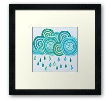 Funny rainy clouds Framed Print