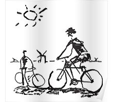 Picasso Bicycle - Biking Sketch Poster
