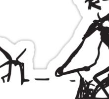 Picasso Bicycle - Biking Sketch Sticker