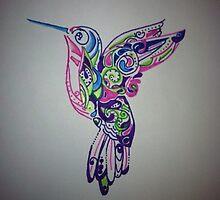 beautiful humming bird by Natalie DiTrapani