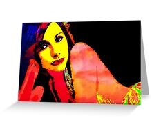 PJ HARVEY POP ART Greeting Card