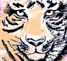 Abstract Tiger Sticker