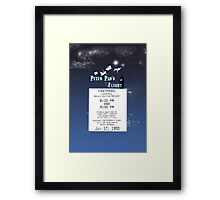 Peter Pan's Flight- Fastpass Framed Print
