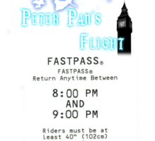 Peter Pan's Flight- Fastpass Sticker