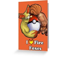I Heart Fire Foxes Greeting Card
