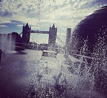 Tower Bridge Fountains by PoppyCarter