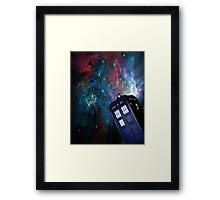 Tardis Galaxy Framed Print