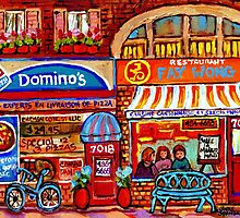 DOMINO'S PIZZA AND FAY WONG MONTREAL RESTAURANTS by Carole  Spandau