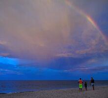 Ocean Rainbow Sunset by KawalaPhoto