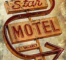 Vintage Star Motel Sign by Honey Malek