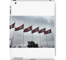 North Korean flags at Kim Il-Sung Square iPad Case/Skin