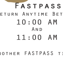 Jungle Cruise Fastpass Sticker