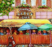 ST.VIAREUR BAGEL CAFE MONTREAL by Carole  Spandau