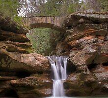 Old Man's Cave Upper Falls by Dan Dexter