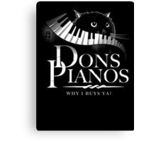 Dons Pianos Canvas Print