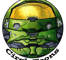 Halo Master Chief CircleToon by circletoons