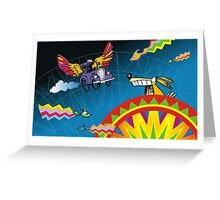 Aztec taxi Greeting Card