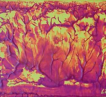 """""""Forest Fire"""" original abstract artwork by Laura Tozer by Bellatrixie"""