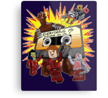 Everything Is Awesome Mix Metal Print