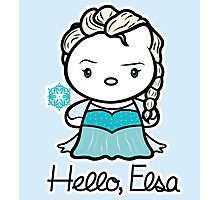 Hello, Elsa Photographic Print