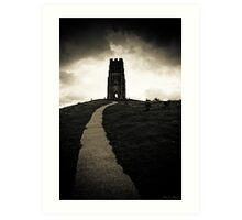 Dark Tor - Gothic Glastonbury Art Print
