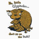 No, little Glyptodon… don't sit on the Pudu! - megafauna t-shirt by Richard Morden