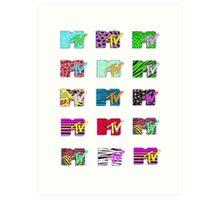 MTV Logos Art Print