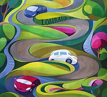 Lombard Street the Crookiest street  by lusha