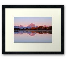 Alpen Glow Framed Print