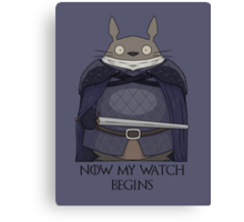 Totoro Night's Watch Canvas Print